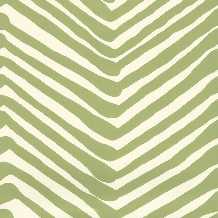 Quadrille Zig Zag Wallpaper Jungle Green on Off White AP302-32