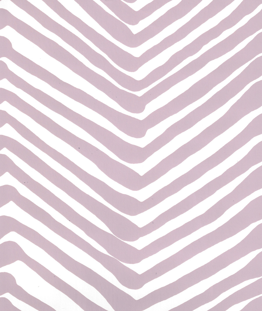 Quadrille Zig Zag Wallpaper Lavender on White AP302-33