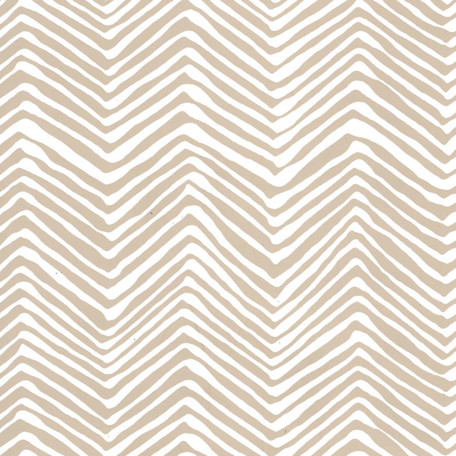 Quadrille Petite Zig Zag Wallpaper Sand on Almost White AP303-5