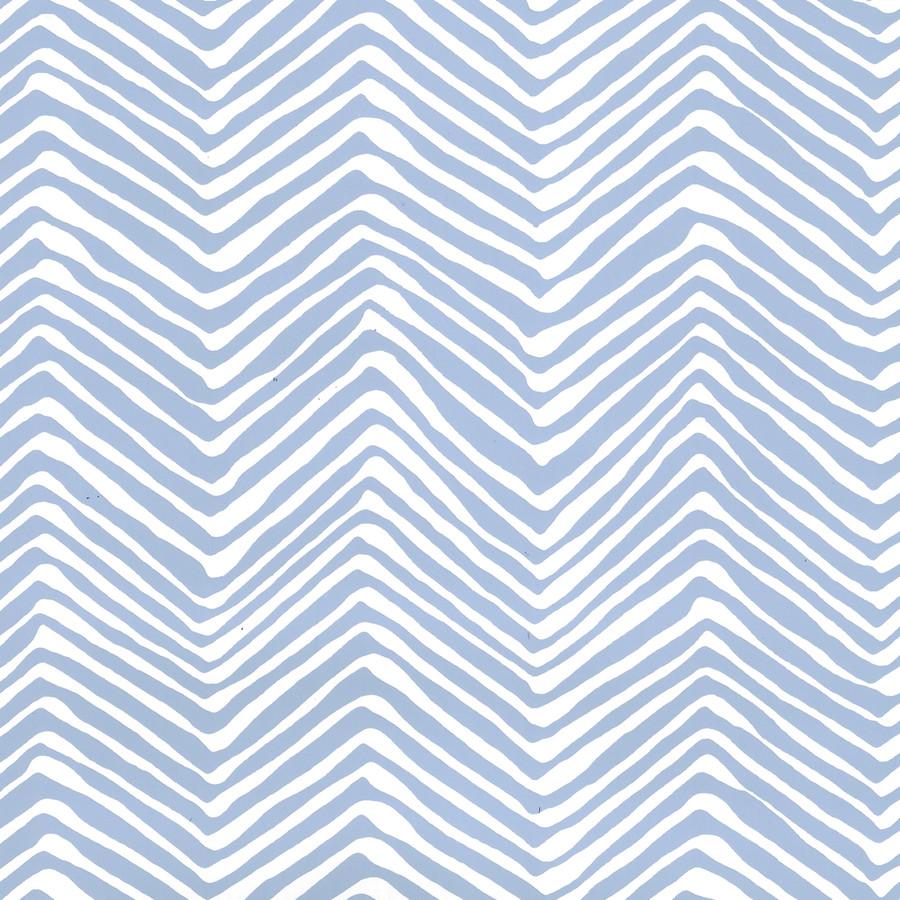 Quadrille Petite Zig Zag Wallpaper French Blue on White AP303-15WWP