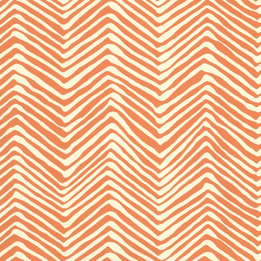 Quadrille Petite Zig Zag Wallpaper Salmon on Off White AP303-12