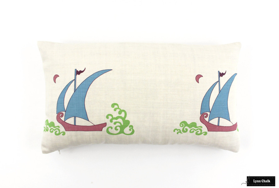 ON SALE 40% Off -  Katie Ridder Beetlecat Pillow in Ultramarine on Linen (12 X 20)