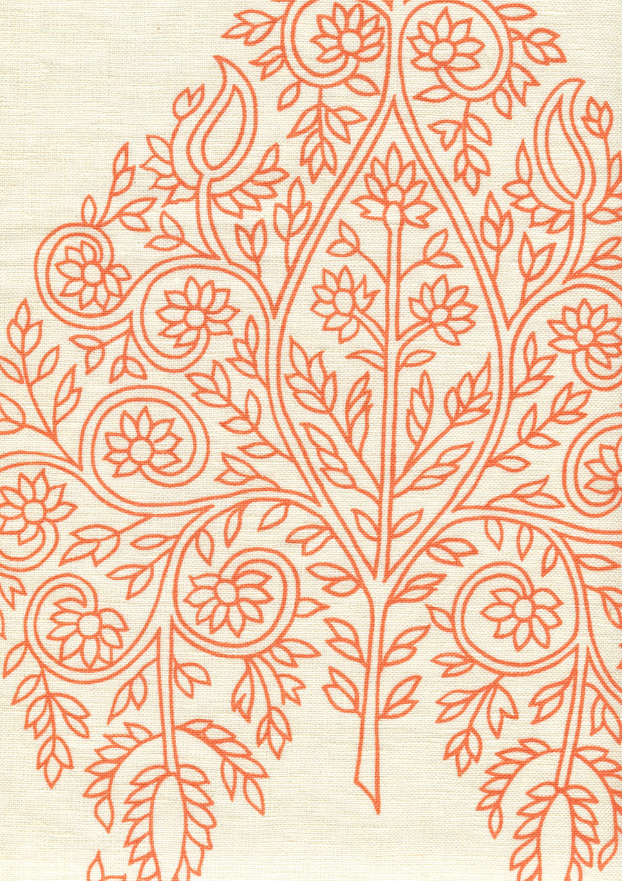 Quadrille Taj Wallpaper Melon on Off White HC1480P-06WP