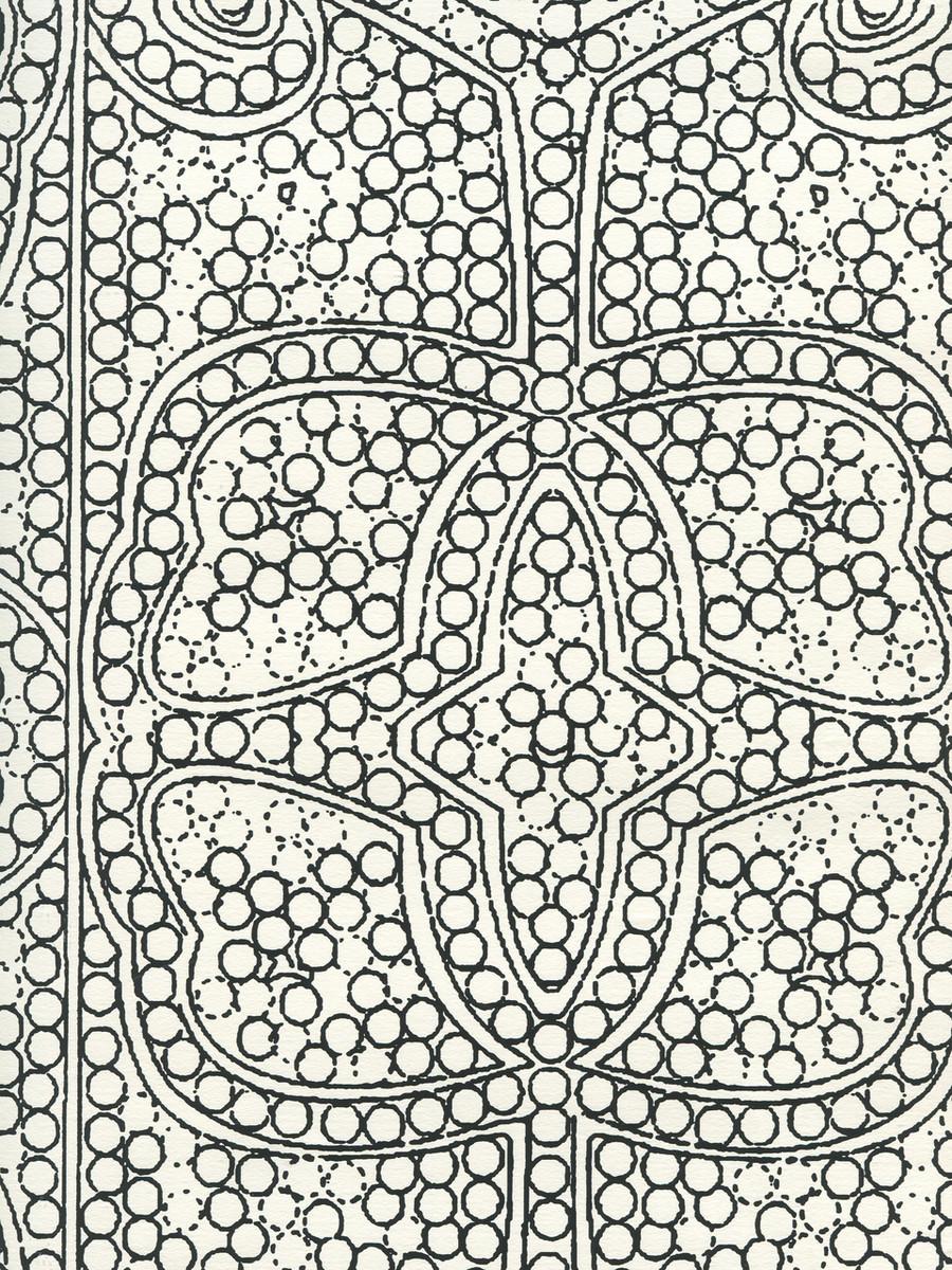 Quadrille Persia Wallpaper Black on Almost White CP1000W-10