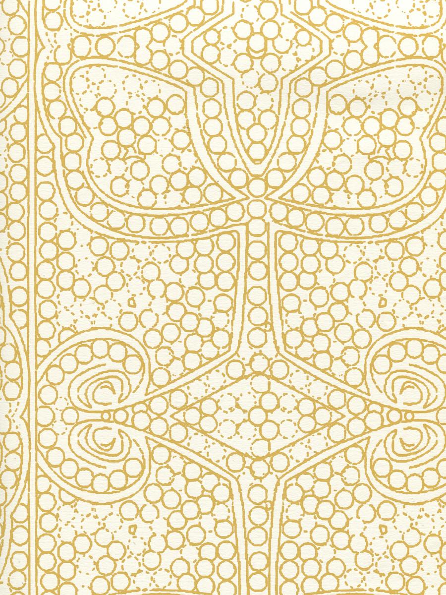 Quadrille Persia Wallpaper Camel on Almost White CP1000W-02
