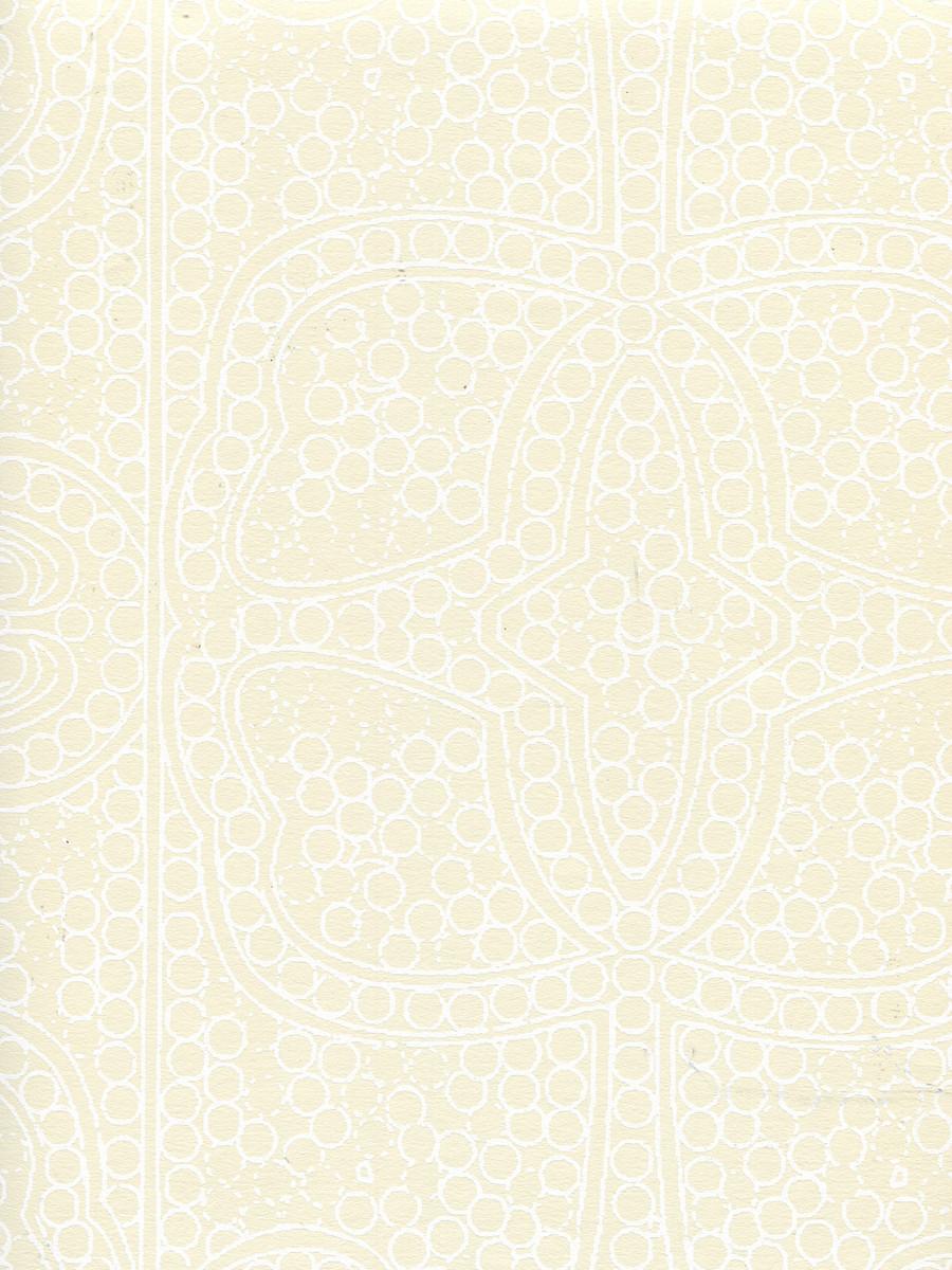 Quadrille Persia Wallpaper White on Tan CP1000W-01
