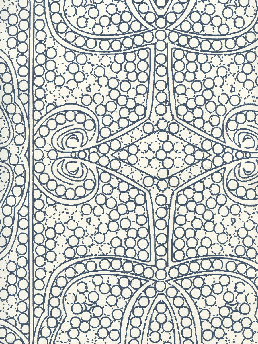 Quadrille Persia Wallpaper Navy on Almost White CP1000W-09