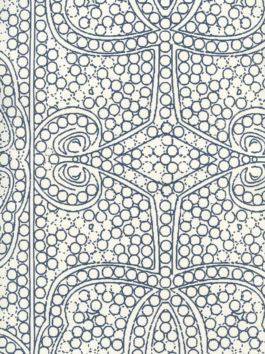 Quadrille Persia Wallpaper Navy on Almost White CP1000W-09