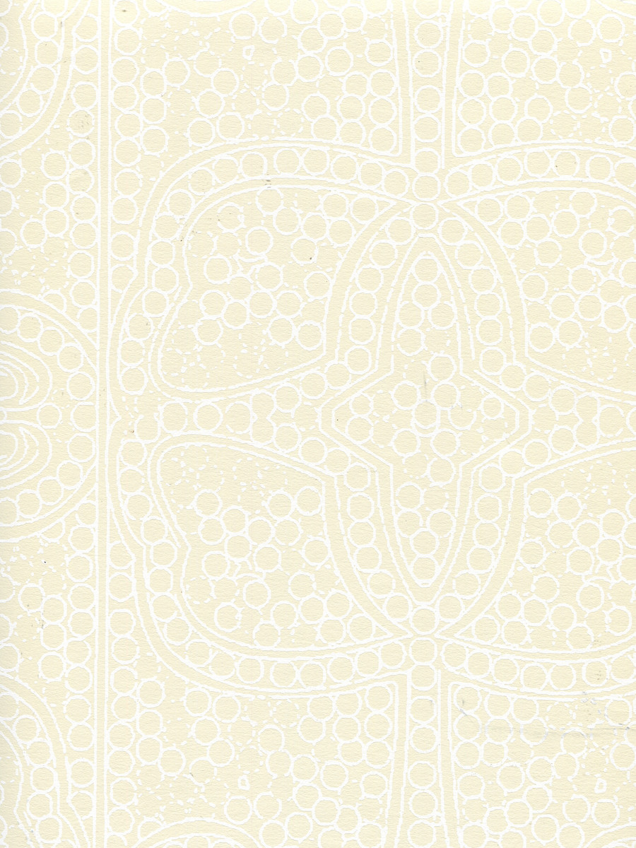 Quadrille Persia Wallpaper White on Tan CP1000W-01