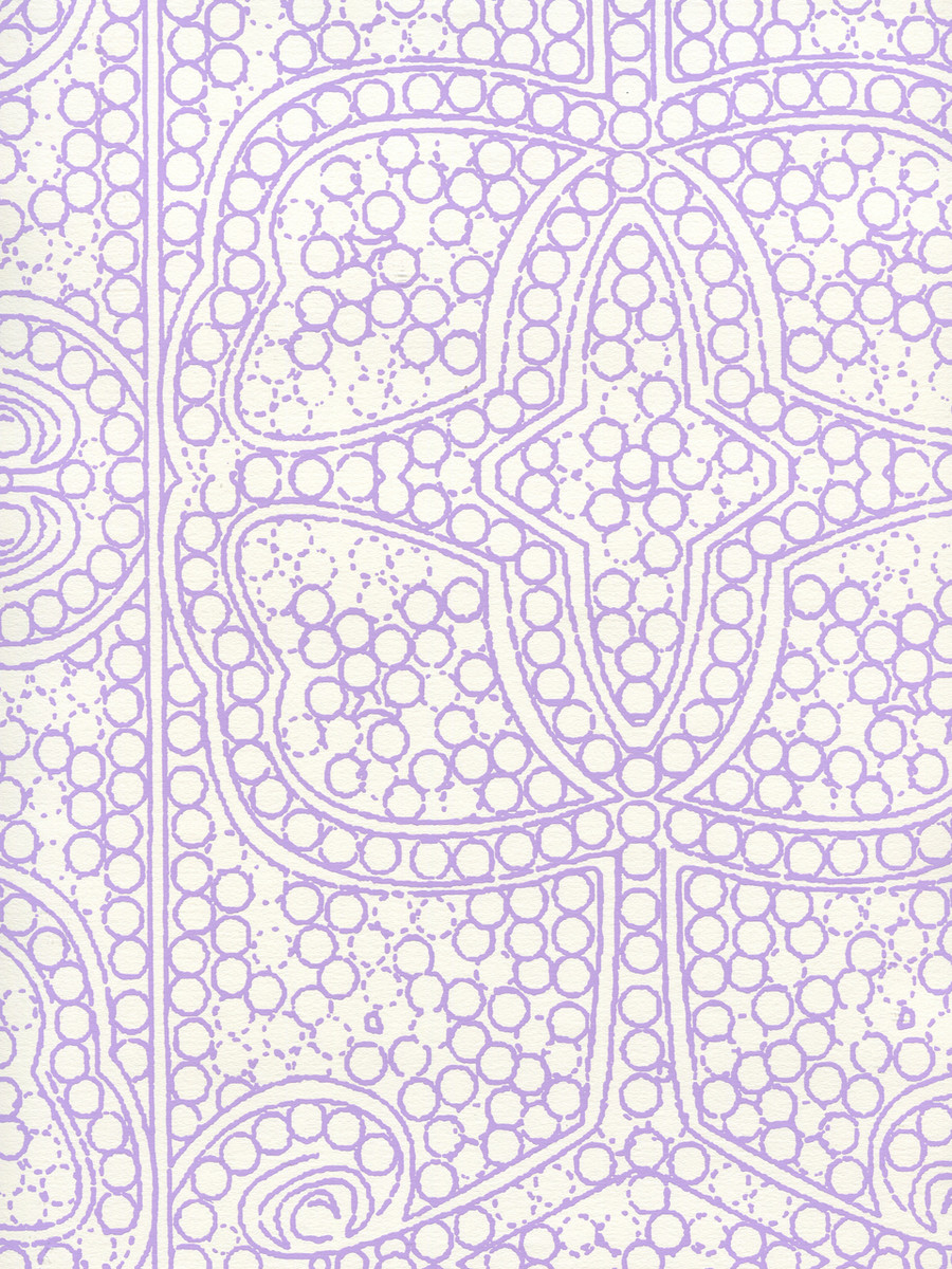Quadrille Persia Wallpaper Lilac on Almost White CP1000W-05