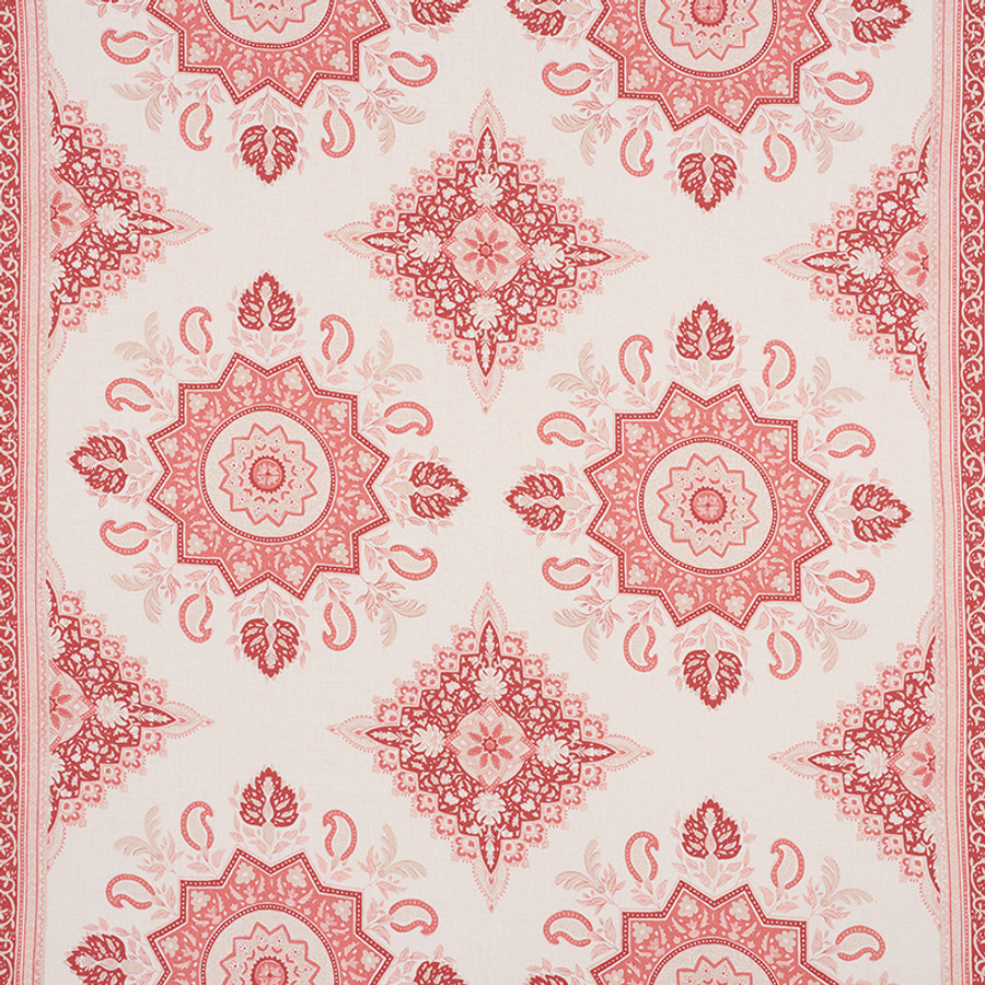 Schumacher Montecito Medallion Faded Red 176483