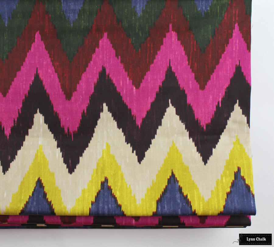 Martyn Lawrence Bullard for Schumacher Adras Ikat in Jewel 174820