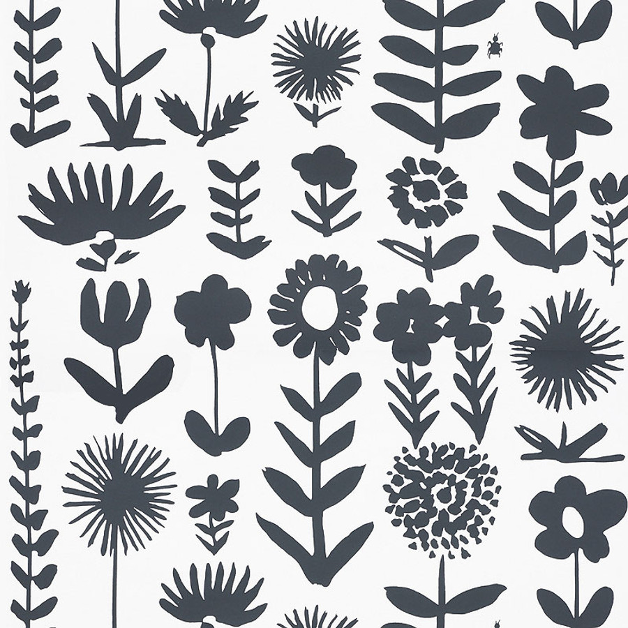 Schumacher Wallpaper Wild Things Black 5009810