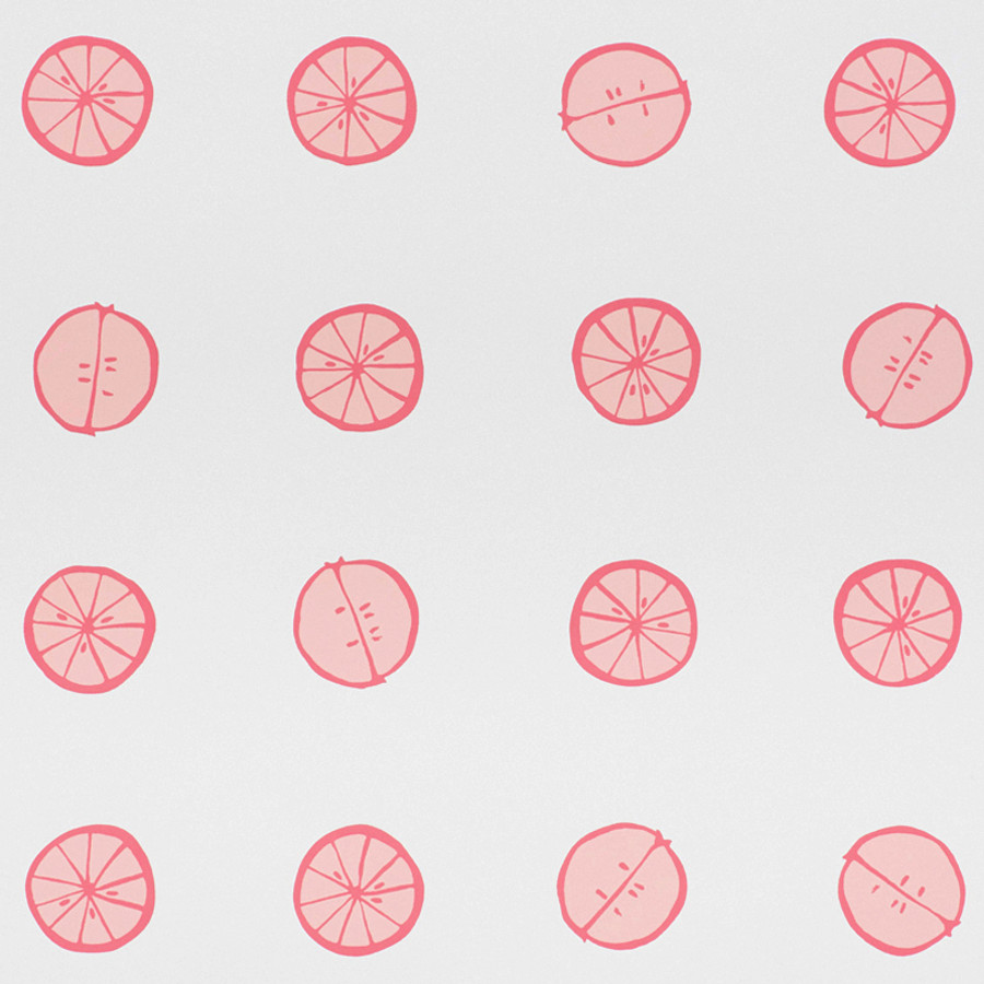 Schumacher Lemonade Wallpaper Grapefruit 5009821