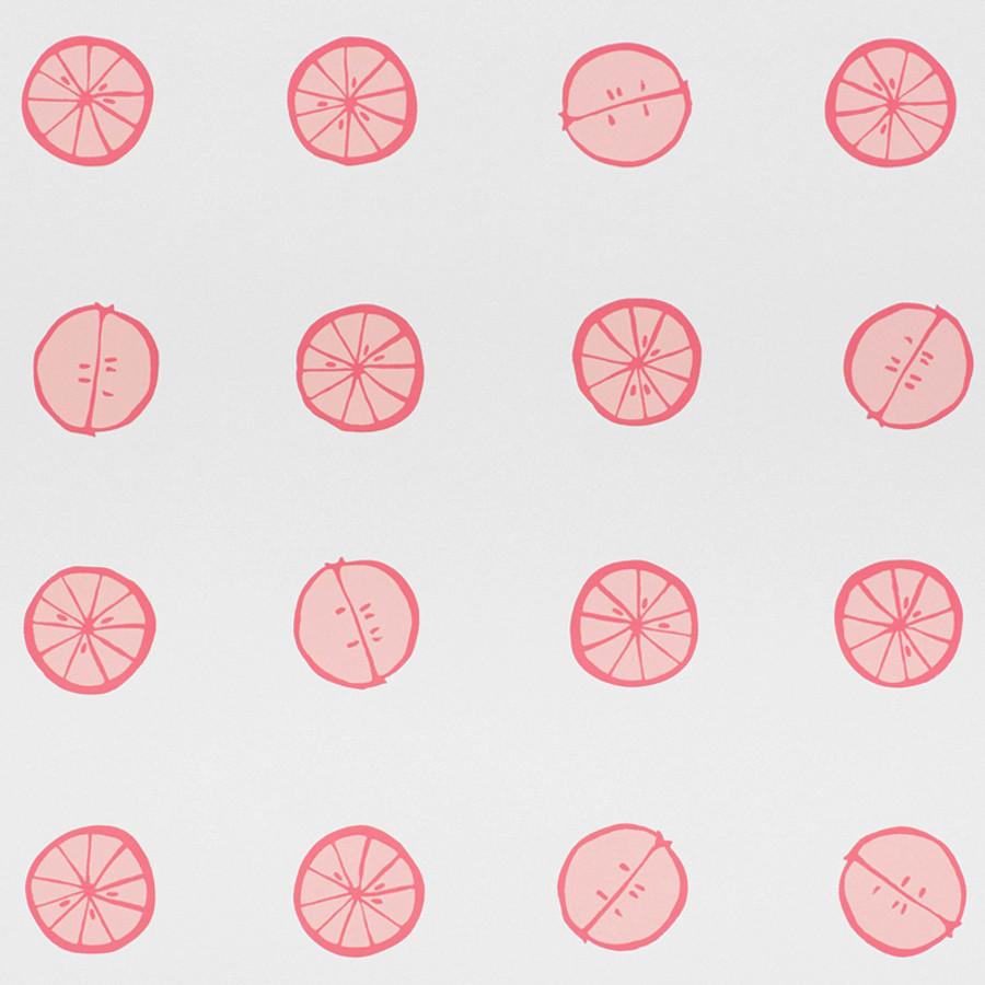 Schumacher Lemonade Wallpaper Grapefruit 5009821