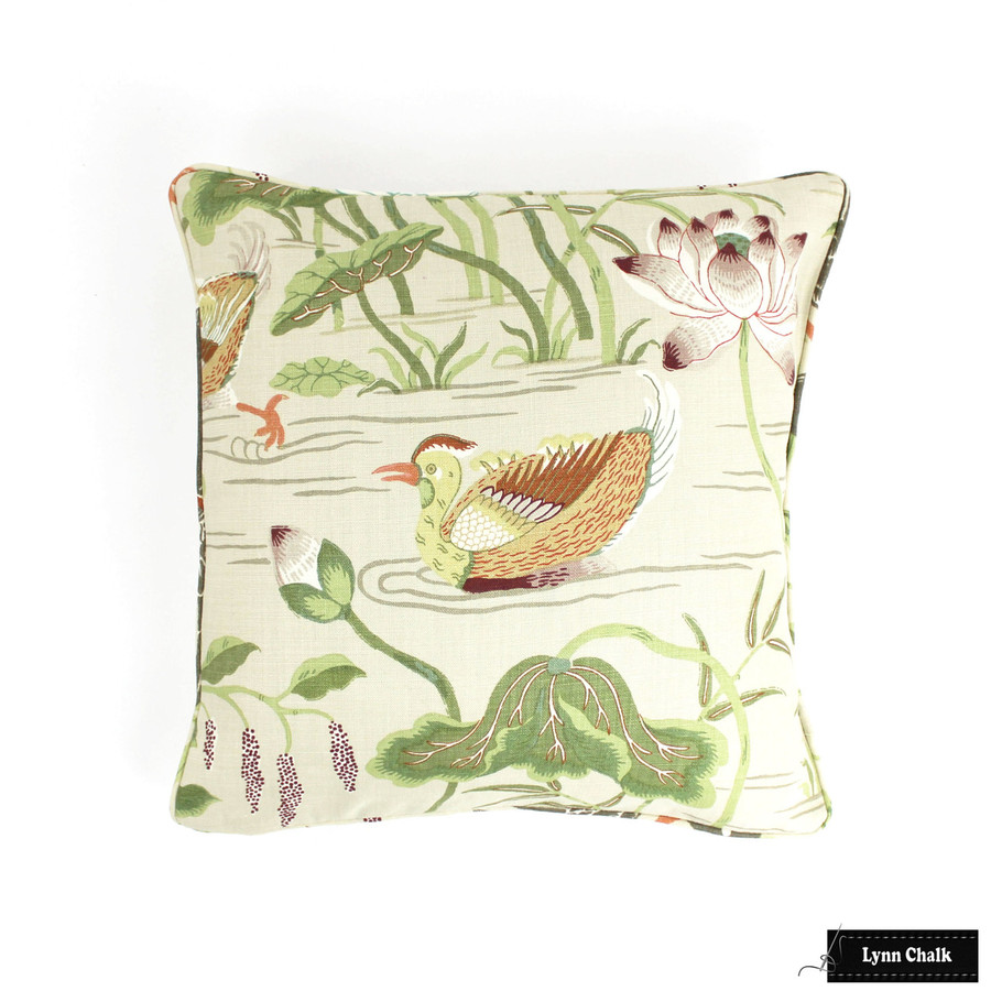 Schumacher Lotus Garden Roman Shades (shown in Parchment-comes in other colors)