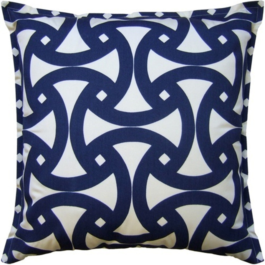 Pillow in Trina Turk Santorini Print Marine