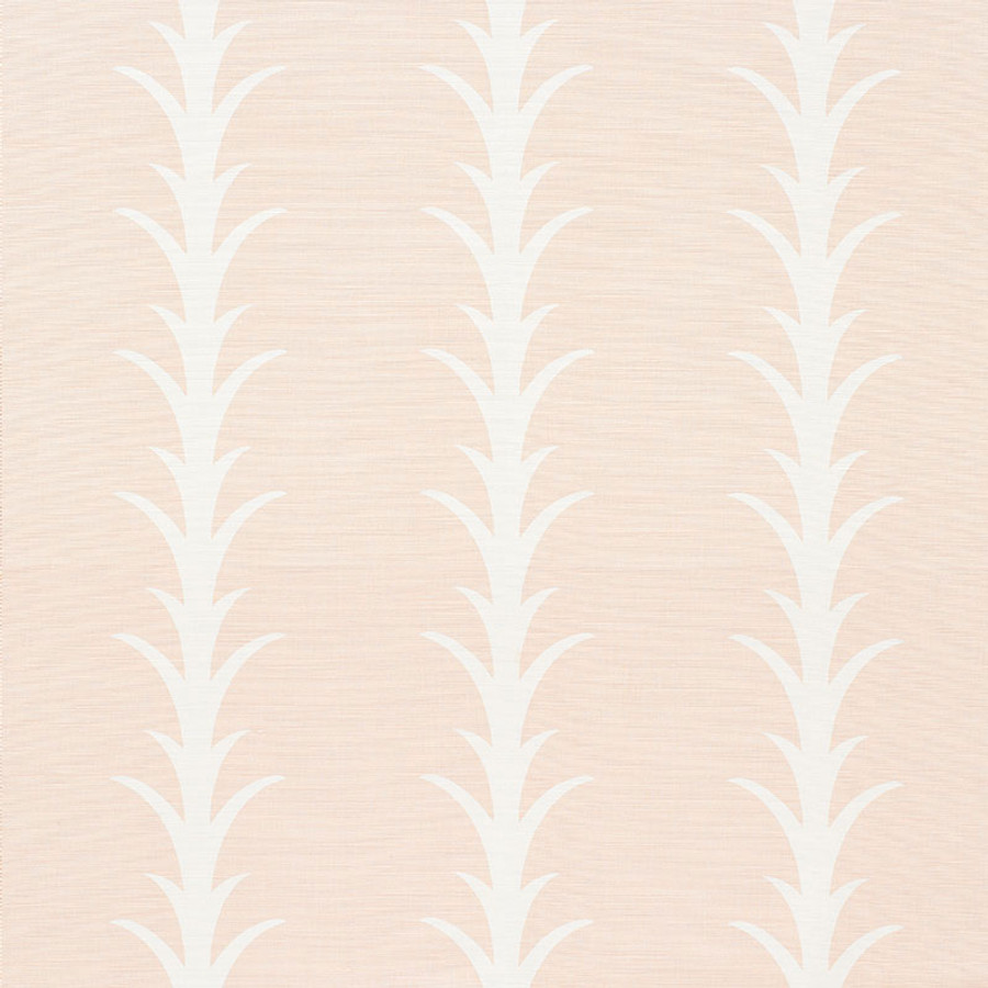 Schumacher Fabric Acanthus Stripe Blush 177634