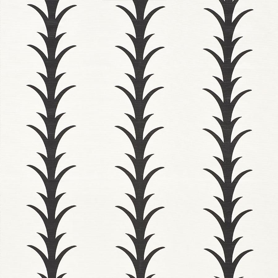 Schumacher Fabric Acanthus Stripe Carbon 177632