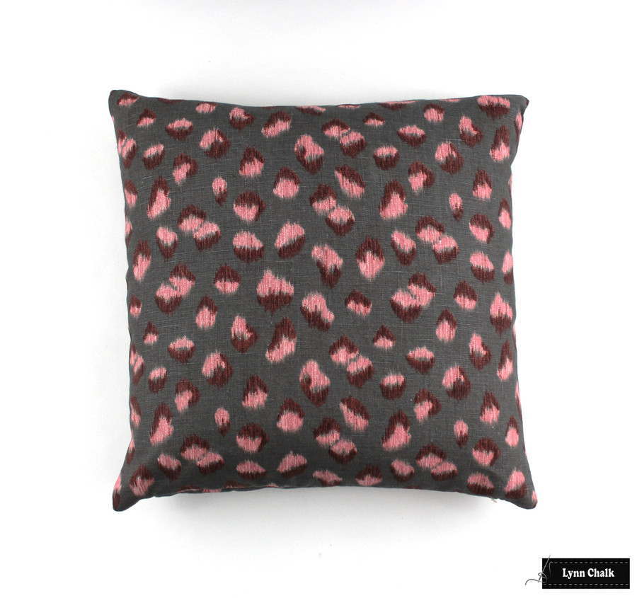 ON SALE 50% Off- Kelly Wearstler Feline Pillow in Rose Graphite (Both Sides-18 X 18) Made To Order