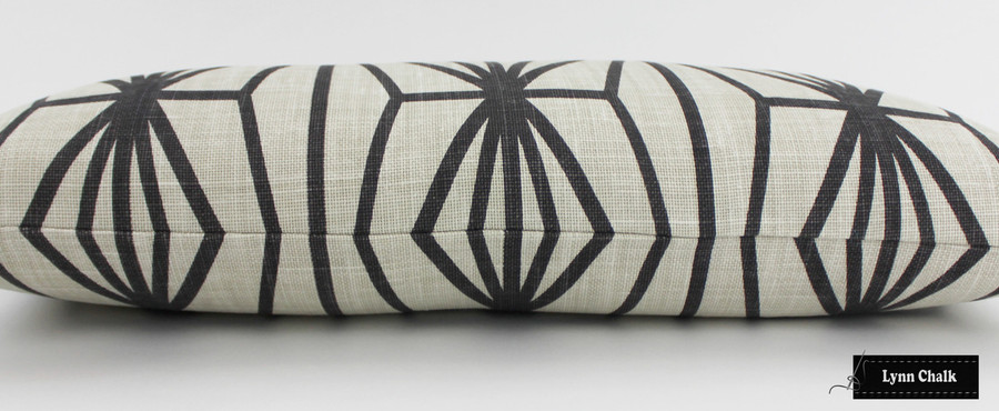 ON SALE 50% Off-Kelly Wearstler for Lee JofaKatana in Ebony/Ivory Pillow (Both Sides-20 X 20) Made To Order