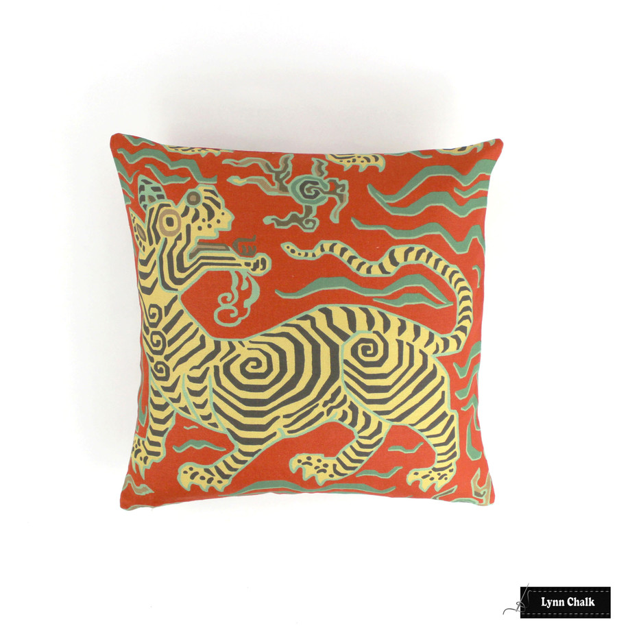 Custom Pillow in Tibet Cinnabar (18 X 18)