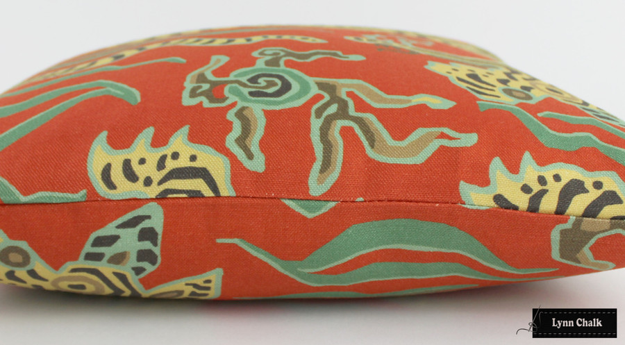 Clarence House Tibet Custom Knife Edge Pillows(shown in Cinnabar-comes in several colors) 2 Pillow Minimum Order