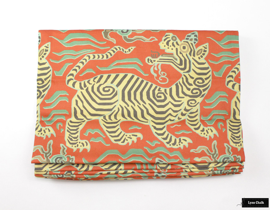 ON SALE 55% Off-Clarence House Tibet Custom 18 X 18 Pillows with Self Welting in Cinnabar (Both Sides)