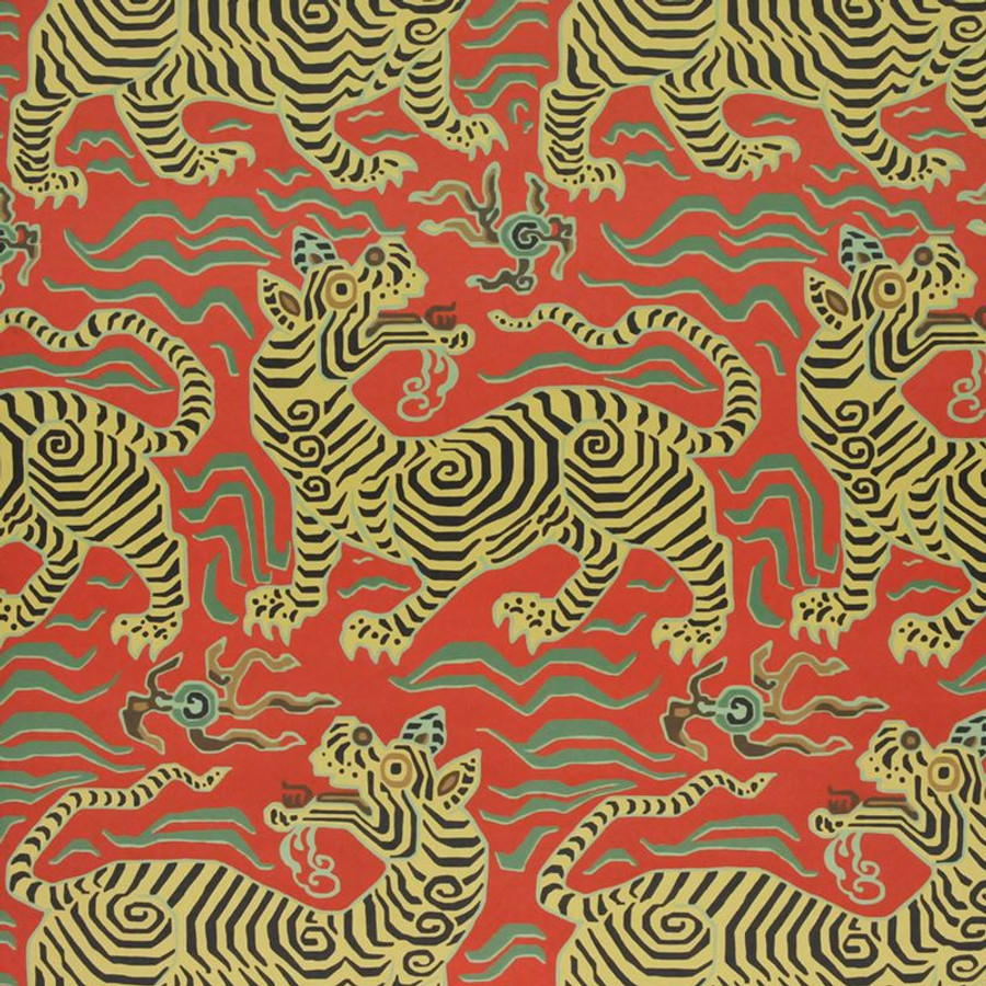 Clarence House Tibet Pale Cinnabar Wallpaper 9985-5