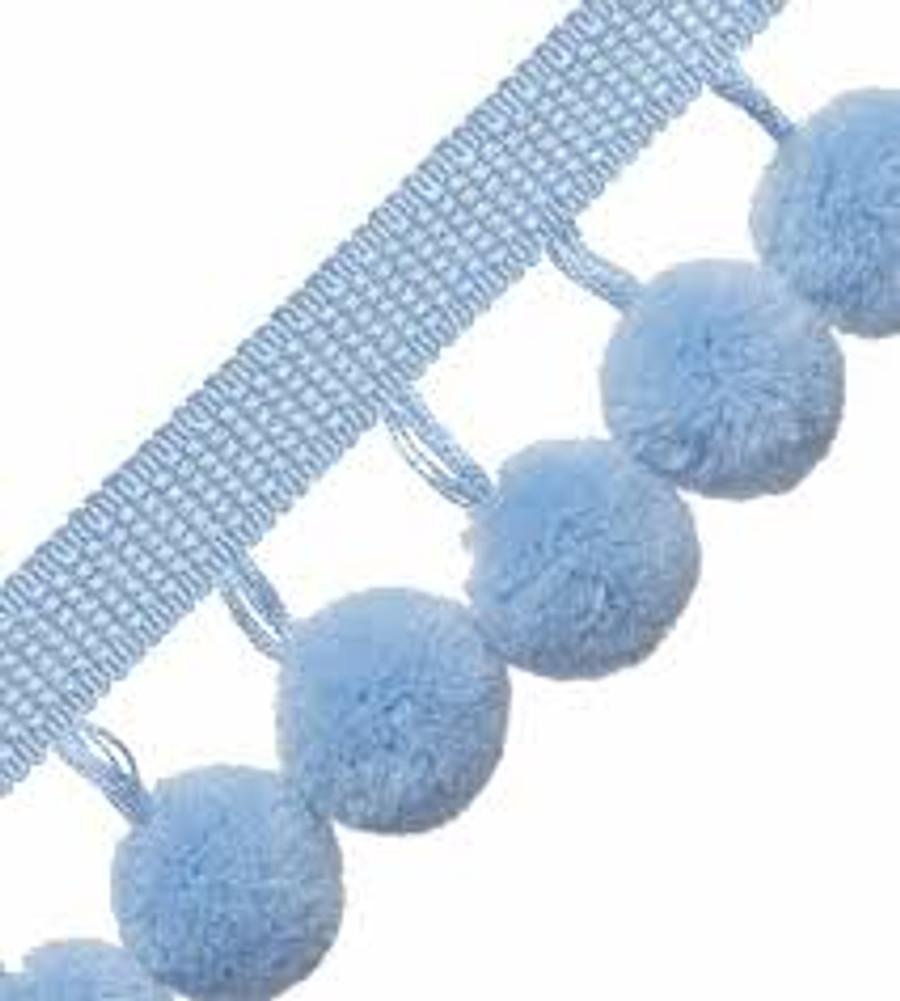 Samuel & Sons Dolce Pom Pom Fringe Blue Frosting