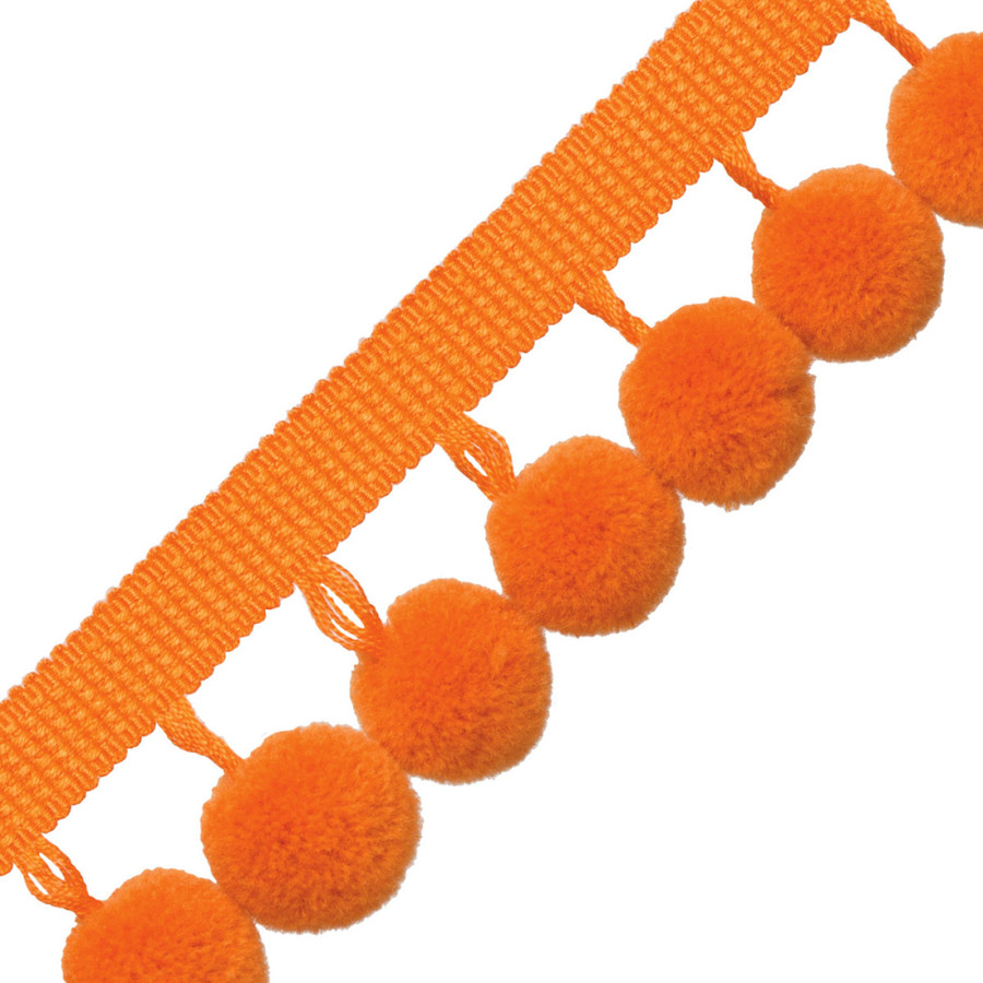 Samuel & Sons Dolce Pom Pom Fringe Orange Float