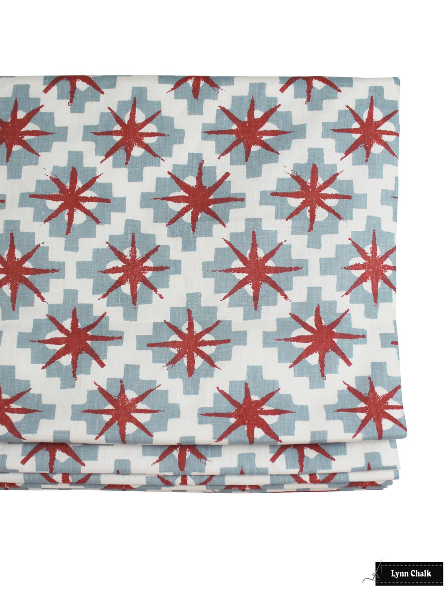Peter Dunham Starburst Roman Shades (shown in North Blue Blue 111STB01-comes in other colors)