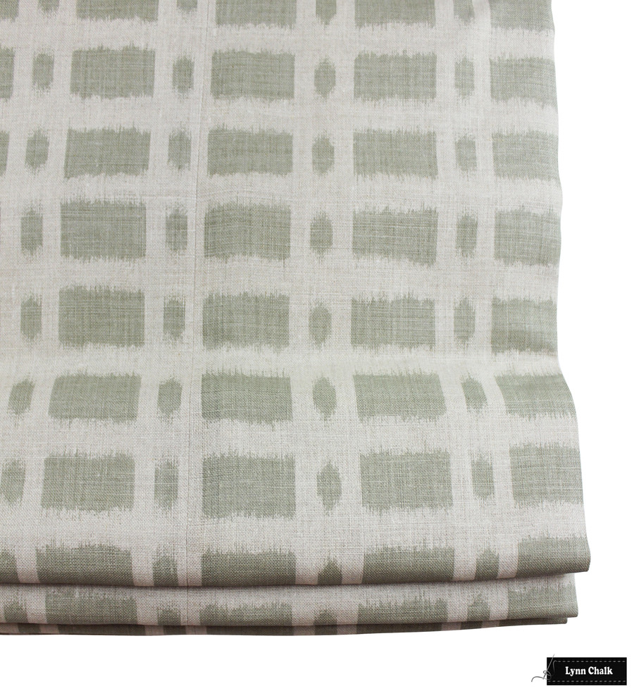 ON SALE 55% Off - Schumacher Veere Grenney Townline Road Knife Edge Pillow in Sage Green (Both Sides 17 X 17) Made To Order