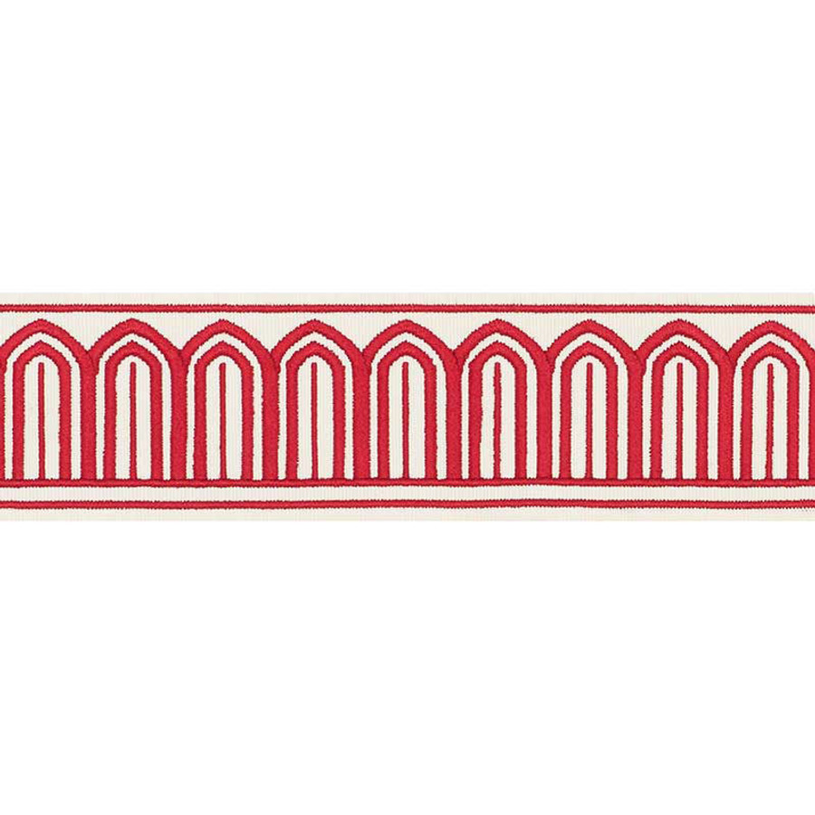 Schumacher Arches Trim Red 70761