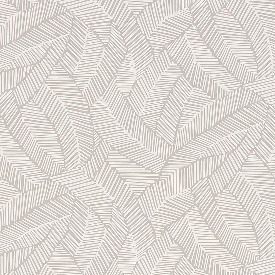 Schumacher Abstract Leaf Wallpaper Dove 5007531