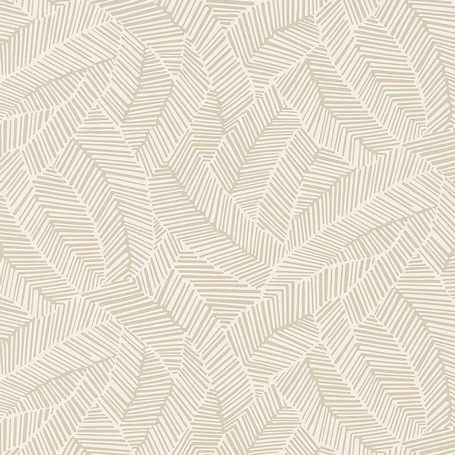 Schumacher Abstract Leaf Wallpaper Linen 5007530