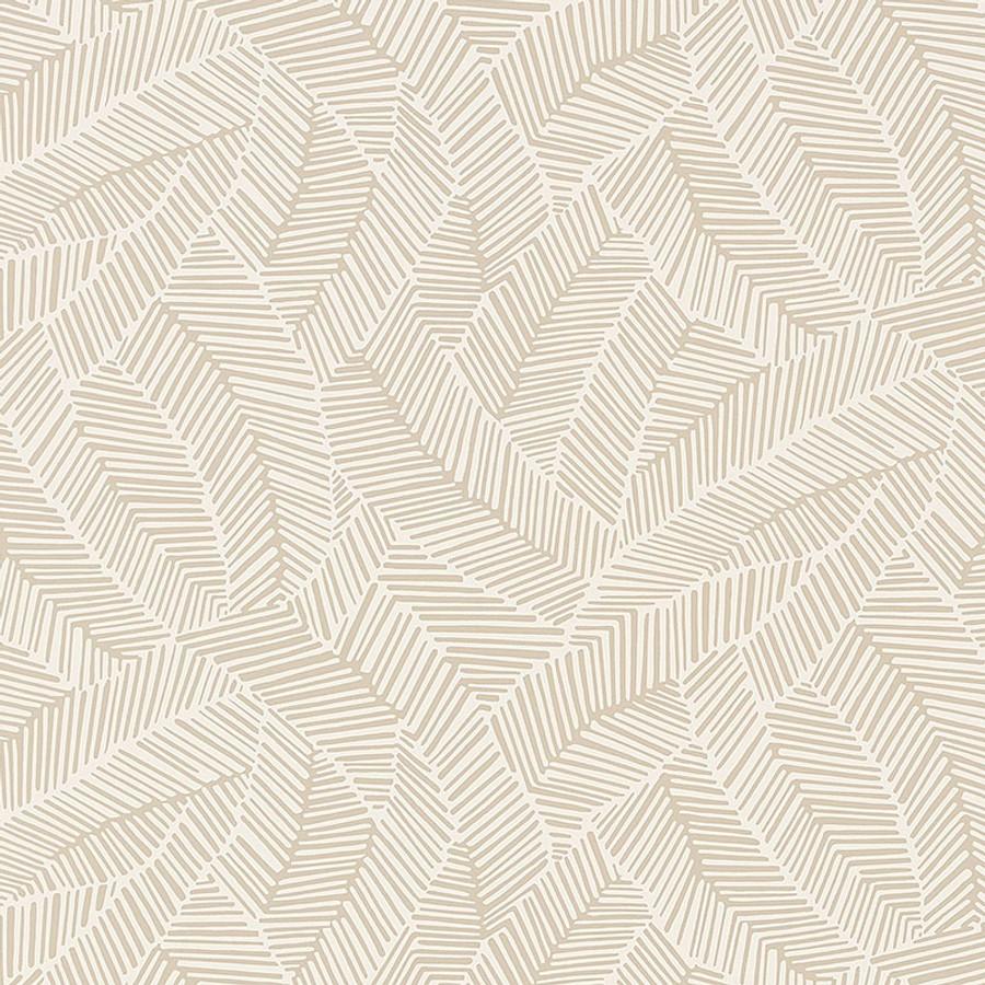 Schumacher Abstract Leaf Wallpaper Linen 5007530