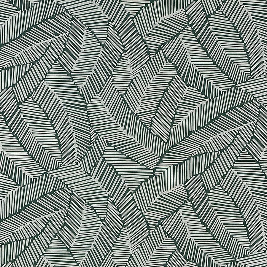 Schumacher Abstract Leaf Wallpaper Metallic Leaf 5007534