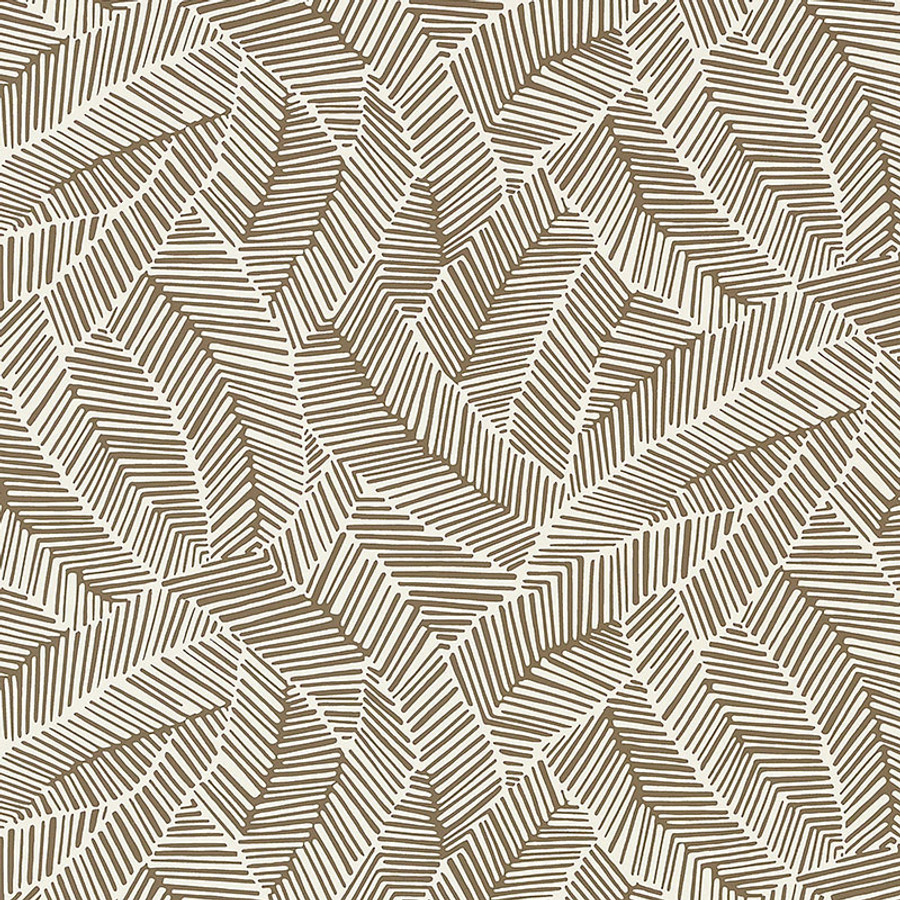 Schumacher Abstract Leaf Wallpaper Mocha 5007532