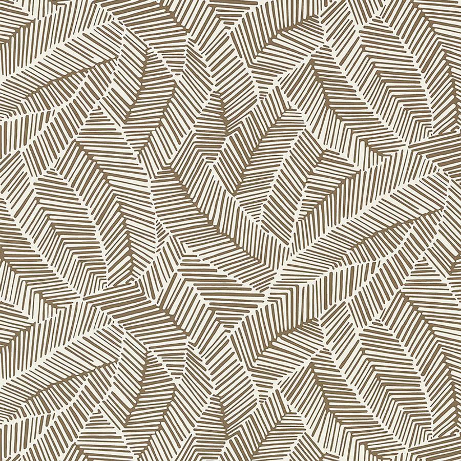 Schumacher Abstract Leaf Wallpaper Mocha 5007532