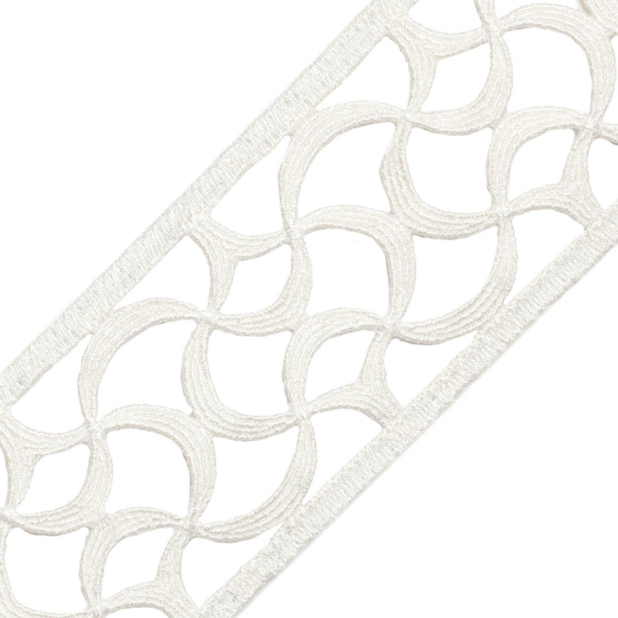 Samuel & Sons Aubree Lace Border Alabaster 58052-02