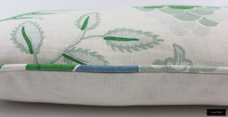 ON SALE 50% Off - Christopher Farr Carnival Green Pillow with Self Welting (Front Only-22 X 22) Made To Order