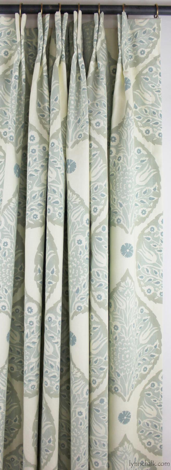 Galbraith & Paul Lotus Custom Pillows with Self Welting (shown in Dove Grey on Logan Cream Linen)