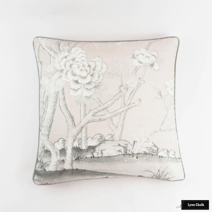 Schumacher Mary McDonald Chinois Palais Custom Pillow (shown in Lettuce-comes in other Colors) 2 Pillow Minimum Order