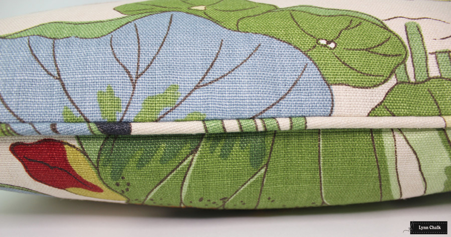 Lee Jofa/GP & J Baker Nympheus Custom Pillow (shown in Stone/Pistachio-comes in other colors)