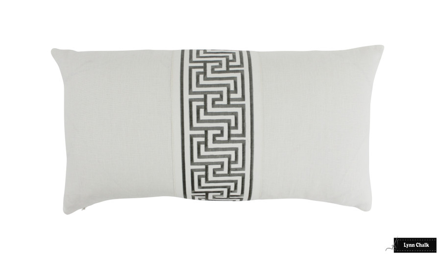 Pillow 14 X 26 with Labyrinth Tape Platinum 66145