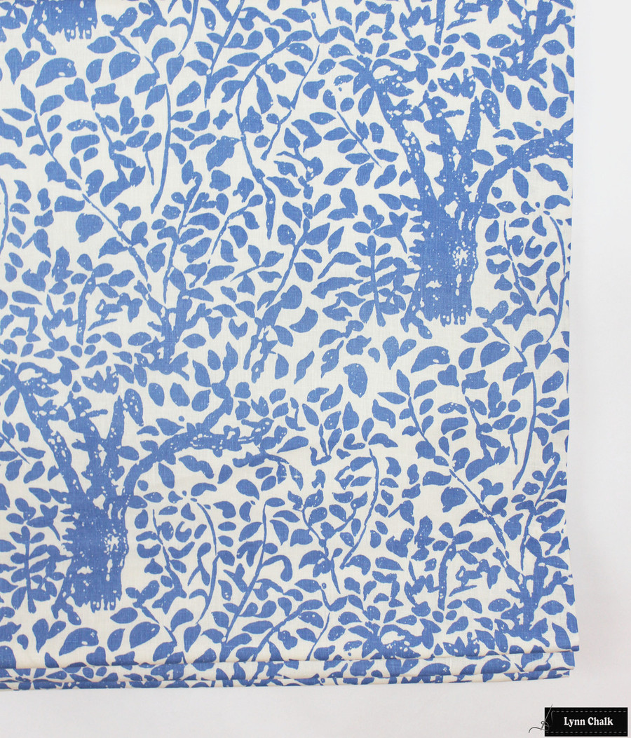 Quadrille Arbre De Matisse -China Blue Roman Shade (By Lynn Chalk)