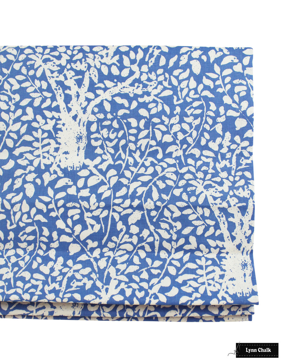 Quadrille Arbre De Matisse Reverse Roman Shade (shown in Reverse China Blue on Tint -comes in many colors)