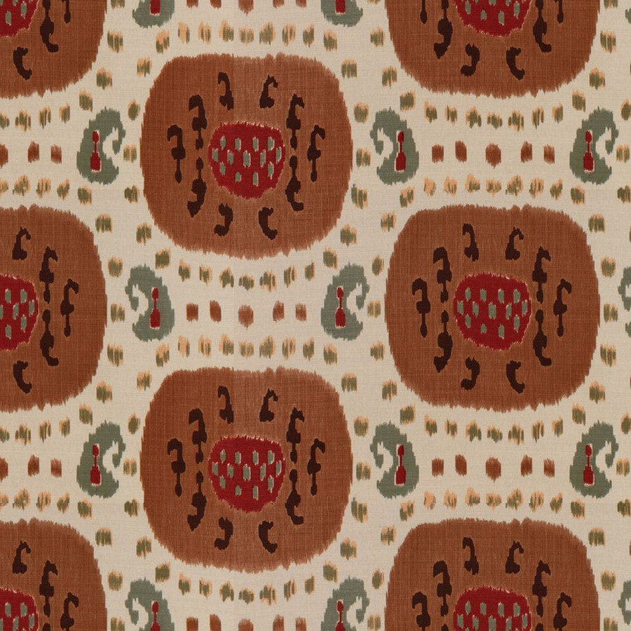 Samarkand Cotton and Linen Print Brown on Beige BR-71110_08