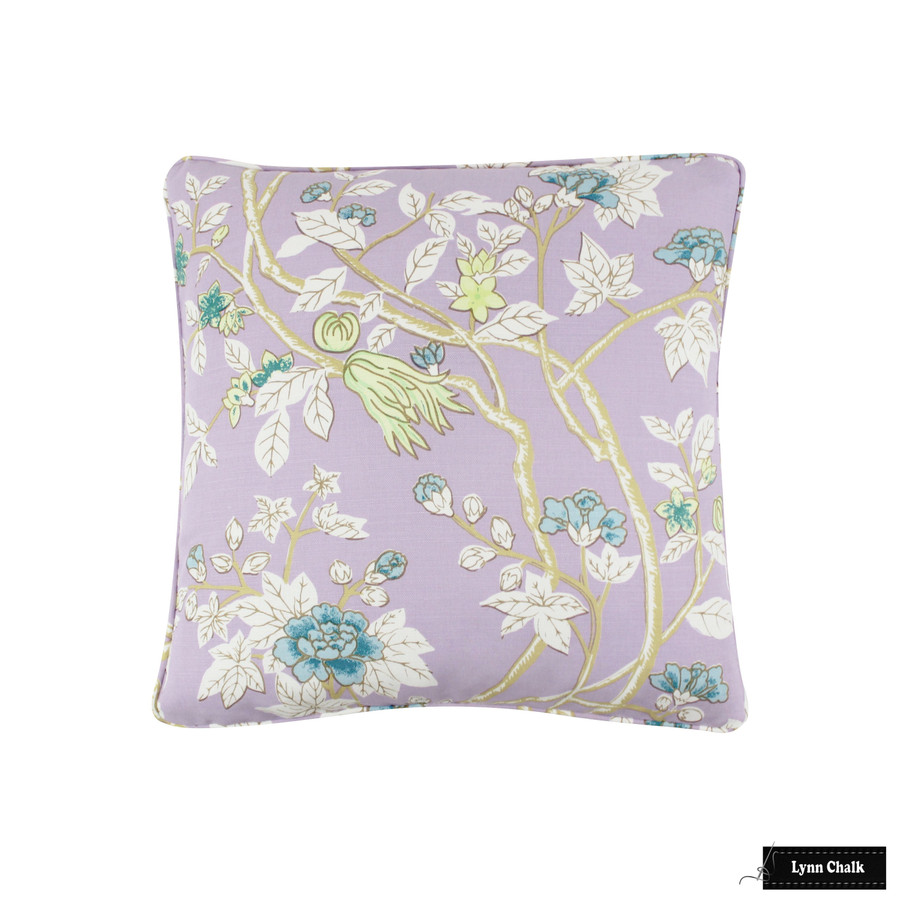 Quadrille Happy Garden Lavender on White 306064F